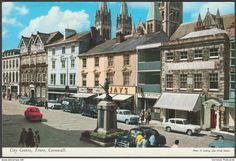 City Centre, Truro, Cornwall, c.1960s - John Hinde Postcard