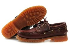 TIMBERLAND moccasin hiking-deck shoes CLASSIC LUG red tea Burgundy