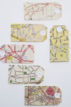 map tags Definitely need to make some of these and bring them to pop up shop!