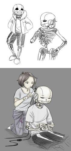 Cybertale Sketches by Ethai.deviantart.com on @DeviantArt