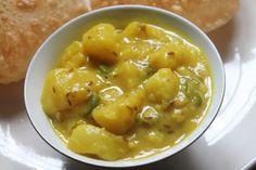 Puri Bhaji Recipe - Breakfast Aloo Bhaji Recipe - Aloo Bhaji without Onions & Garlic - Yummy Tummy