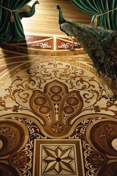 Wood Flooring Laser Inlays.