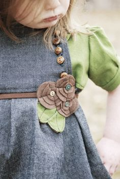 Easy embellishment ideas for little girl clothing or just a belt.
