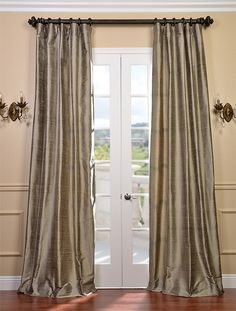 Signature Cashmere Textured Silk Curtain Panel Ping Great Deals On Eff Curtains