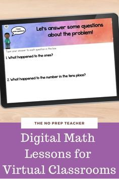 Teaching elementary math online or hybrid this year? Introducing addition with regrouping to your students? These digital math lessons will make your job easy! Students can work through the lessons online at their own speed. Or you can guide your kids through the lessons during live instruction on zoom or google meets. Simple and easy for your students and for you!