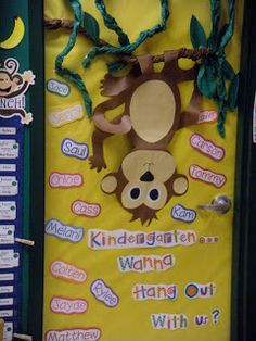 school door decorations ideas | Peace, Love and Kindergarten: A Glimpse into my classroom!