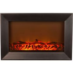Hometech Contemporary Electric Fireplace 1 500 Watts Wall