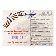 Airline Ticket Template Word Custom Plane Ticket Invitations Passport Programs And Luggage Tag Escort .