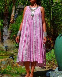 Vtg 80s 90s Boho Grecian gypsy goddess cotton by Mystikbazaar, $58.00