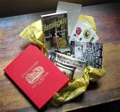 The Hemingway Box - Gifts - Shakespeare and Company Shakespeare And Company, Paris, Box, Gifts, Favors, Boxes, Presents, Gift