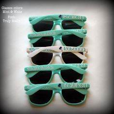***** PLEASE CHECK SHOP ANNOUNCEMENT FOR LEAD TIME BEFORE PLACING ORDER**** Personalized sunglasses - great for bachelorette parties, bridesmaids, birthday parties, girls weekends, graduations and vacations... These sunglasses make the perfect gift for any occasion... Great gift for the bridesmaids, groomsmen, or the whole bridal party, bachelor/bachelorette party, wedding favors, sorority rush, proms, graduation parties, family reunions, birthday get togethers and parties, spring break…