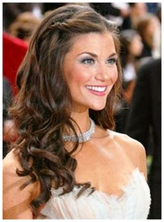 Wedding Hairstyles For Long Hair Down With Flowers