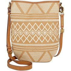 Lucky Brand Cassis Bucket Crossbody ($108) ❤ liked on Polyvore featuring bags, handbags, shoulder bags, neutral, crossbody handbags, embroidered handbags, lucky brand purses, embroidered purse and long cross body purses