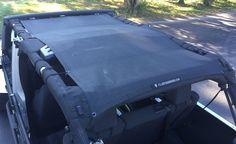 Alien Sunshade Jeep Wrangler JKU4FB Shade Provides UV Protection for Your 4-Door JKU (2007-2017)