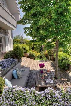 modern garden by Esra Kazmirci Mimarlik – garden design – - Innen Garten - Eng Front Yard Landscaping, Backyard Patio, Landscaping Ideas, Backyard Ideas, Backyard Seating, Modern Landscaping, Amazing Gardens, Beautiful Gardens, Garden Cottage