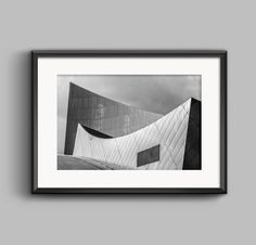 Black and white landscape photograph of the Imperial War by PGroganPhotography. available from Etsy