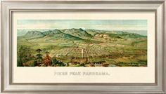 1890, Pikes Peak Panoramic View, Colorado, United States Giclee Print at Art.com