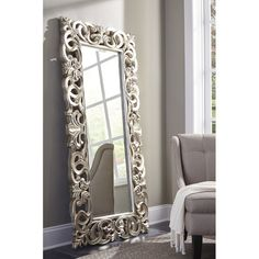 Exquisitely crafted for any glamour queen in your home, The Lucia Floor Mirror is a splendid accent. Antique silver finish brings life to the ornate scroll design Dimensions X X Furniture Direct, Home Furniture, Entryway Furniture, Furniture Market, Furniture Outlet, Furniture Stores, Cheap Furniture, Furniture Ideas, Furniture Design