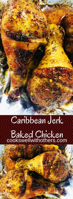 Caribbean Jerk Baked Chicken - Cooks Well With Others Top Recipes, Meat Recipes, Dinner Recipes, Cooking Recipes, Recipies, Restaurant Recipes, Dinner Ideas, Barbecue Pork Ribs, Jamaican Recipes