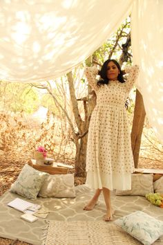 Chalk - Meet up Frill Dress Short Dresses, Prom Dresses, Midi Dresses, Summer Dresses, Salwar Kameez, Kurti, Chic Summer Style, Poppy Dress, Indian Block Print