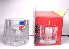Studio Nova Winter's Eve Clear Glass Votive Christmas Candle Holder Japan in box…