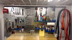 Wall Control Galvanized Metal Pegboard is one of our most popular products and for good reason, it is strong, looks great, and is very versatile! Get your tools organized with some high-quality, Made in USA Wall Control Metal Pegboard. Thanks for the great customer photo Jerry!