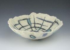 Wet felted bowl, Fiber Artist Julia Maudlin