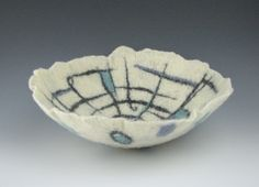 Wet felted bowl, Fiber Artist Julia Maudlin
