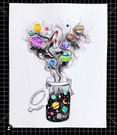 New Art Sketches Space Drawings, Cool Art Drawings, Pencil Art Drawings, Art Drawings Sketches, Galaxy Painting, Galaxy Art, Mini Canvas Art, Wow Art, Pics Art