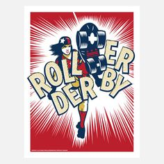 Roller Derby Poster now featured on Fab.