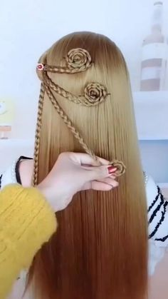 Hairdo For Long Hair, Formal Hairstyles For Long Hair, Long Hair Video, Braids For Short Hair, Fancy Hairstyles, Videos Of Hairstyles, Hair Updo, Pretty Braided Hairstyles, Braided Hairstyles Tutorials