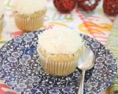 Coconut Snowball Cupcakes - Gluten Free - Tapioca Starch - All Purpose Gluten Free Flour - Sugar  Xanthan Gum - Baking Powder - Baking Soda - 3 Eggs - Olive Oil - Almond Milk - Vanilla - Shredded Coconut - Unsalted Butter - Powdered Sugar
