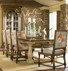 """Antique Trestle Dining Table - Handcrafted from mahogany. - Shown in antique cream with crackle finish on the base and Oak with Antiquing stain on top. - 2 Sizes Available: Expandable - 30""""H x 96""""-117""""L x 47""""W Item # BR-42452 - 30""""H x 96""""L x 47""""W Item # BR-88452 - Matching dining chairs available. - 50+ color & art options."""