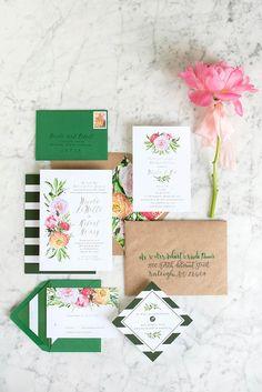 STYLISH FLORAL & FOLIAGE MERRIMON WYNNE HOUSE WEDDING   RUSTIC NATURE WATERCOLOUR WEDDING STATIONERY   FOR MORE WEDDING IDEAS VISIT WWW.BESPOKE-BRIDE.COM