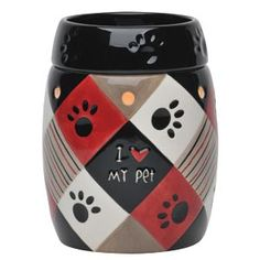 """""""SOLD OUT""""  Love your Dog or Cat?  This Scentsy warmer is on CLOSE-OUT!    Paws Full-Size Scentsy Warmer.    Paws features an alternating barn red, cream, taupe, and black checkerboard pattern and playfully debossed paw prints.    View it or purchase it online 24/7 @ https://db.scentsy.us/Scentsy/Buy/ProductDetails/DSW-PAWS    HURRY get YOURS today!"""