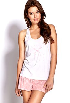 Take A Chance On Love PJ Set | FOREVER21 - 2000070479