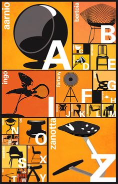 The alphabet of modern design... plus who doesn't love chairs?