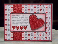 Handmade Valentine's Day Card using Stampin' Up Scallop Heart Embosslits Die