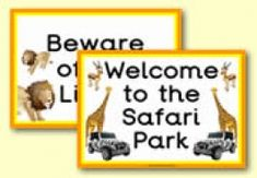 African Safari role play resources for the classroom
