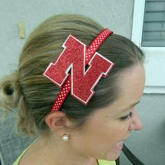 Nebraska Cornhuskers Glitter headband by MissPrissHeadbands, $9.00