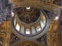 The dome of the Borghese Chapel in the basilica Saint Mary Major.  The anniversary of the dedication of the basilica is today.  Read more here: http://holymarymotherofgod.wordpress.com/2014/08/05/dedication-of-st-mary-major/