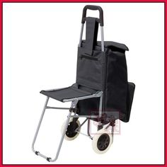 rolling trolley bag cart handicapped elderly shopping chair stool