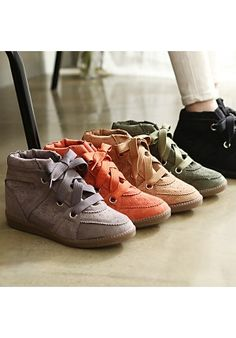 Punching Lace Up High Top - Shoes - Genuine Korean style fashion from Korea
