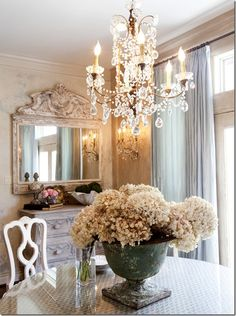 home  Chandelier and love that mirror