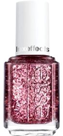 shattered pink diamond glitz. top your favorite essie color with a coat of jewels and create a lavish nail look with this cutting edge, shattered pink diamond glitz lacquer. aqua.DBP, Toluene and Form