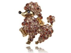 Amazon.com: Antique Gold Tone Topaz Puffy Crystal Rhinestone Top Show Poodle Dog Puppy Ring: Jewelry