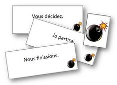 Tic-tac bombe - infinitif et groupes des verbes French Verbs, French Grammar, Teaching French, Teaching Writing, Verb Games, French Classroom, French Resources, French Immersion, Classroom Games