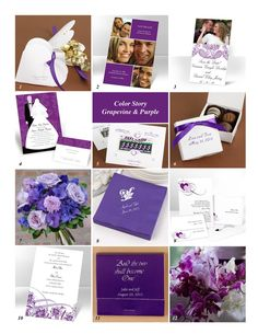 2014 october wedding colors and themes   ... Color Story in Grapevine and Purple   Advice and Ideas   Ann's Bridal