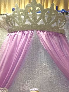 Princess Crown Canopy includes Sheers Available in an assortment of colors for any themed event! Let your little princess f. Princess Birthday Party Decorations, Disney Princess Party, Princess Theme, Baby Shower Princess, Little Princess, Birthday Parties, Princess Crowns, Crown Wall Decor, Quinceanera Decorations