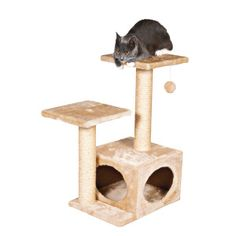 Valencia Cat Tree Soft Plush Inside and Out Scratching Posts Natural Sisal Beige Cat Tree Condo, Cat Condo, Valencia, Sisal, Chat Beige, Kitten Beds, Cat Beds, Cat Activity, Tree Furniture